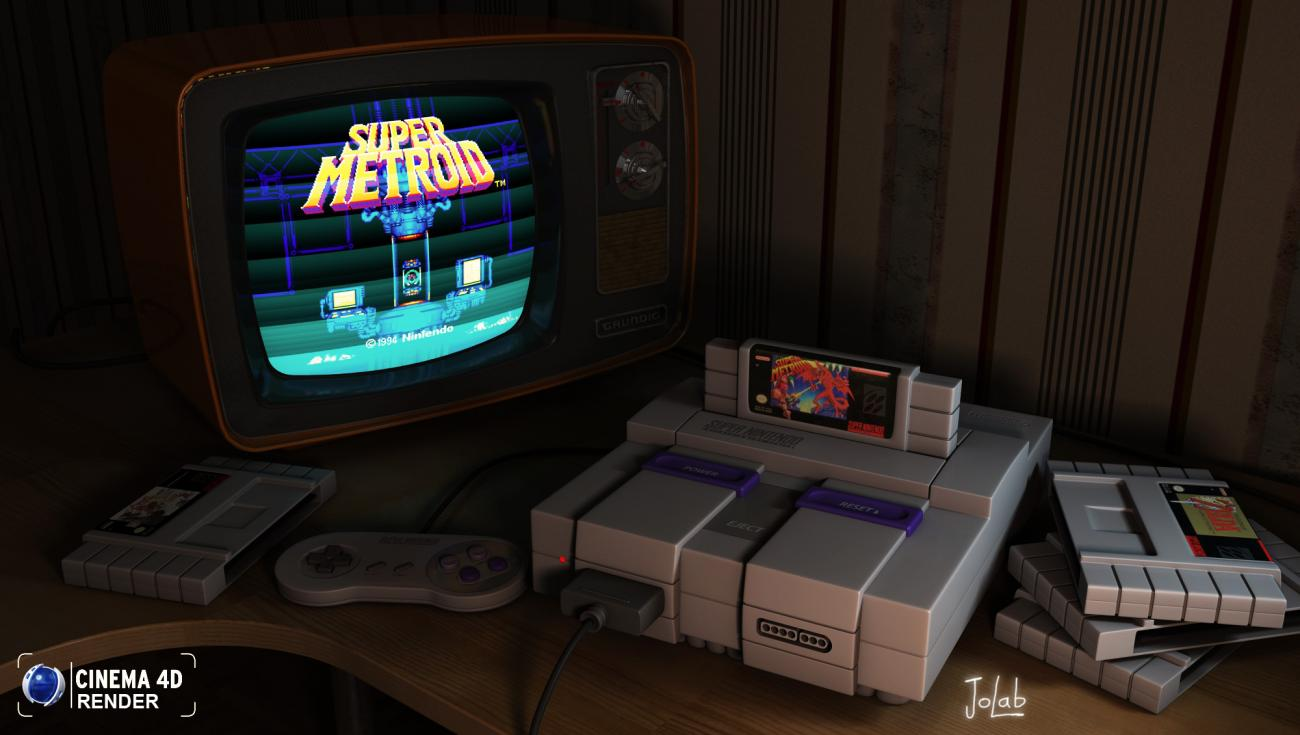 My SNES by JoLab