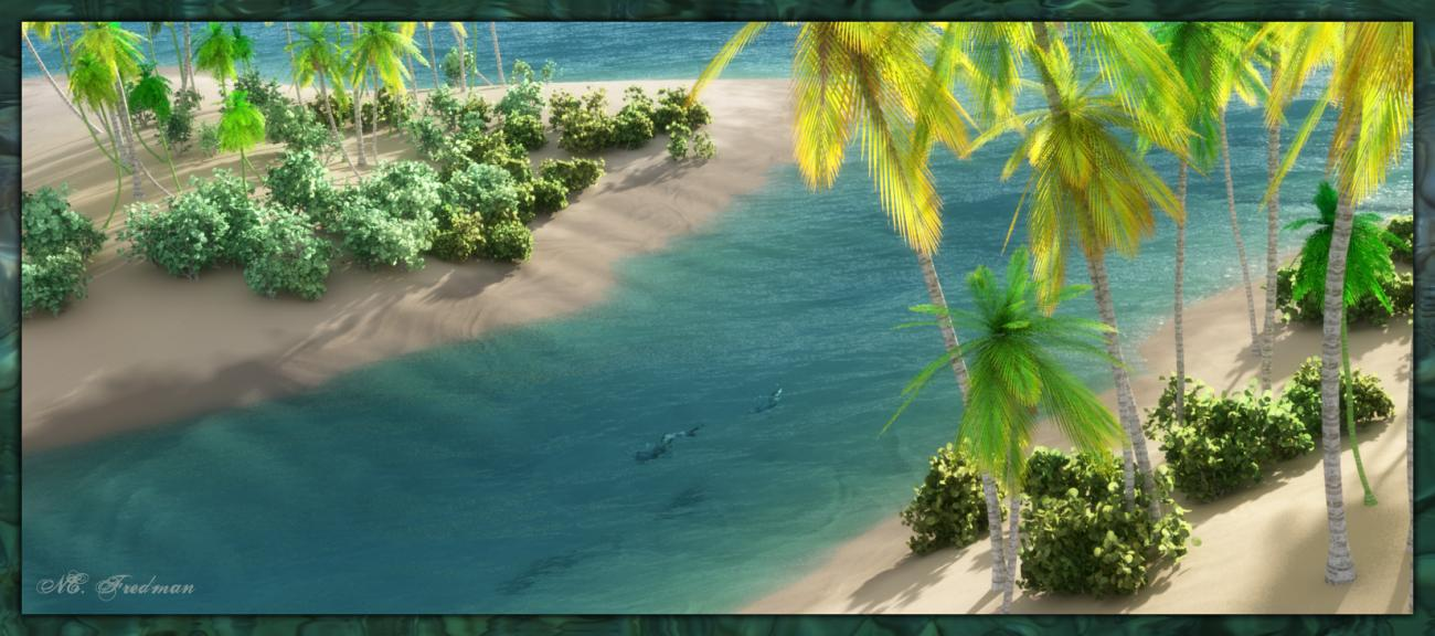Tropic Idyll: Azure Shores by nfredman
