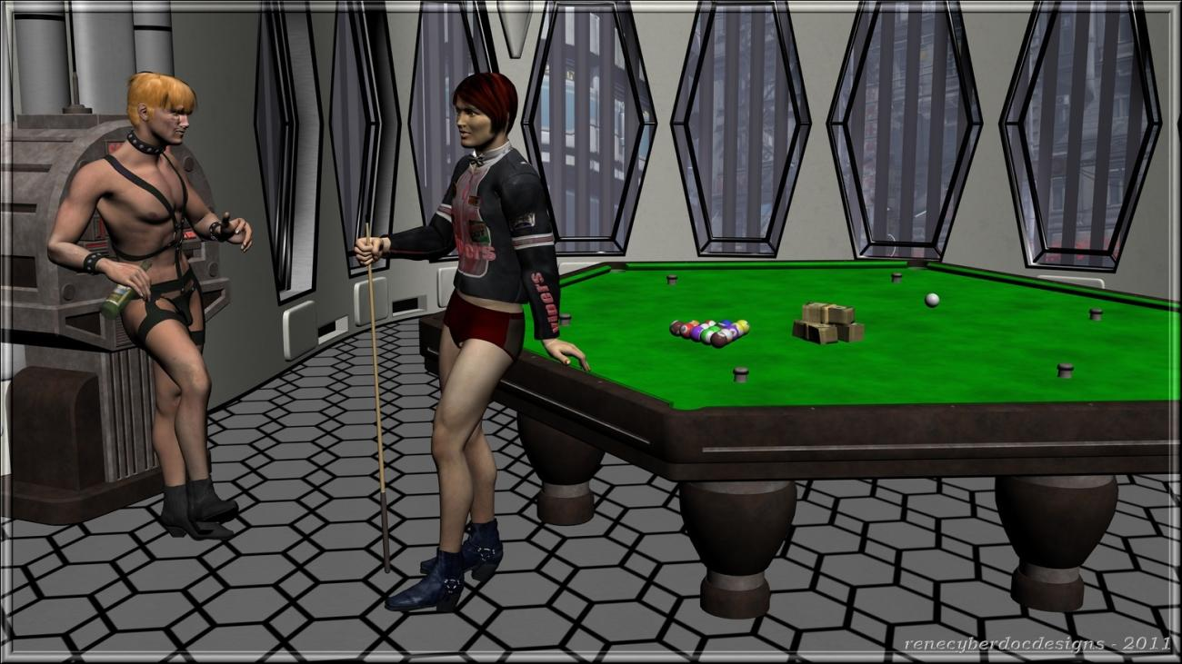 8ball in the Loft by renecyberdoc