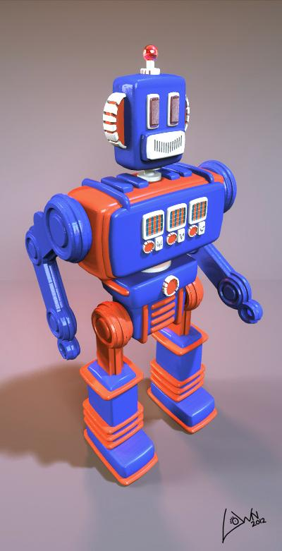 Toy Robot v.1 by Lown