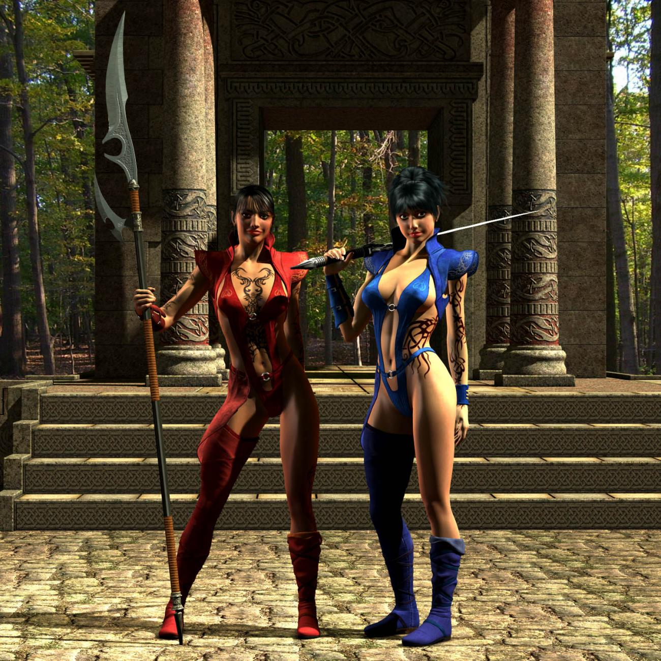 Rilaun Sisters:Temple Portrait by adorety