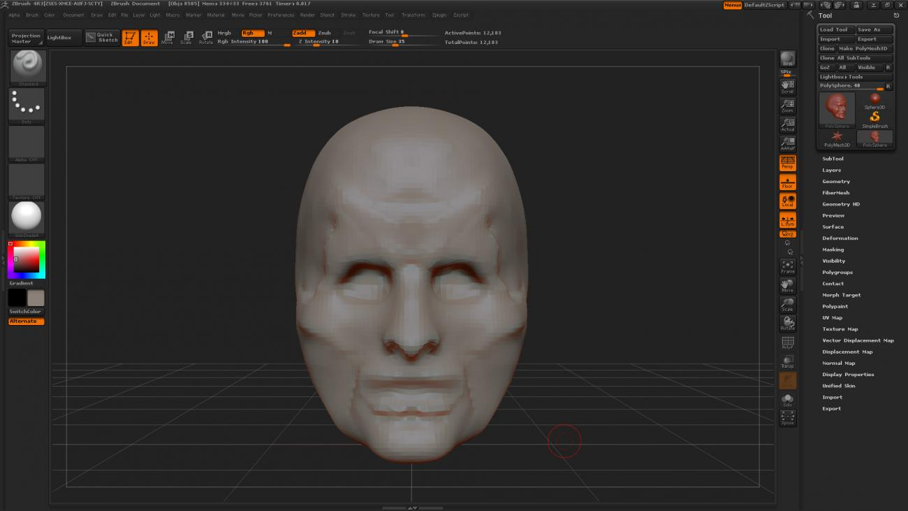 First Zbrush Sculpt by JSGraphics