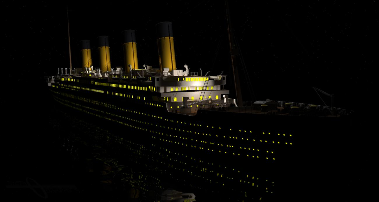 RMS Titanic - Night Cruise by ThetaGraphics