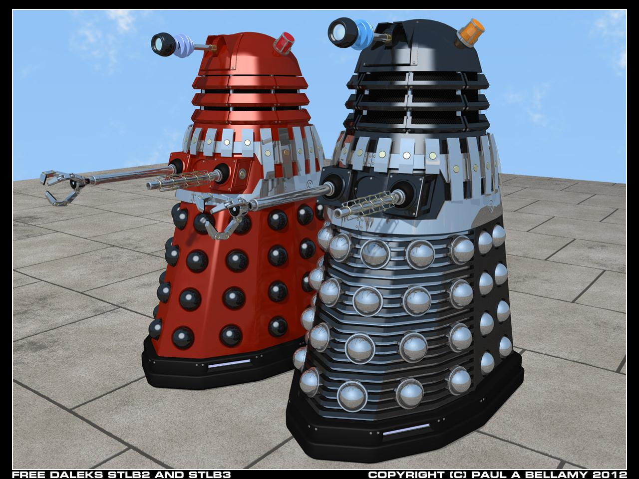 Free Daleks STLB2 and STLB3 by SamTherapy