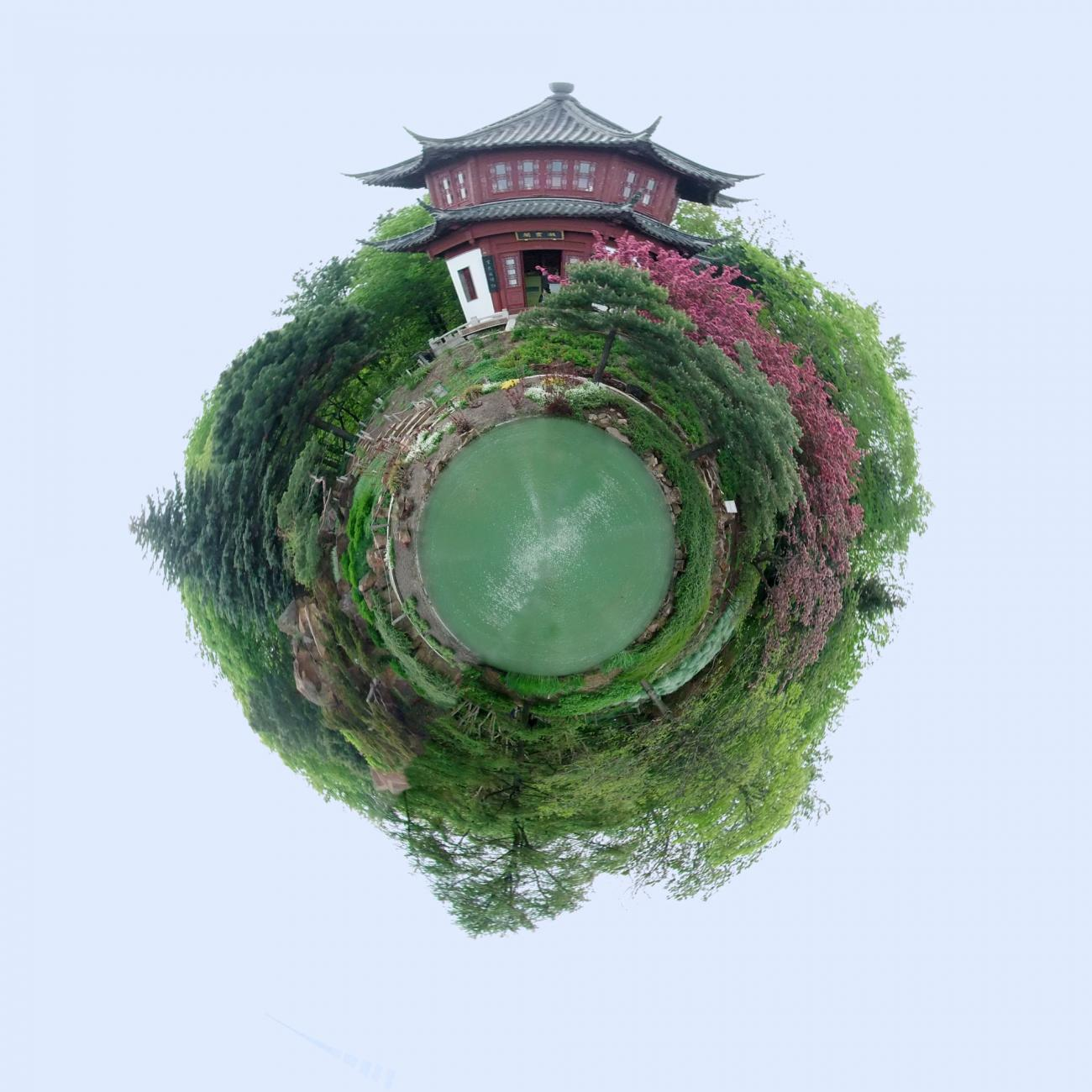 Little Planet: Chinese Garden by Luc2