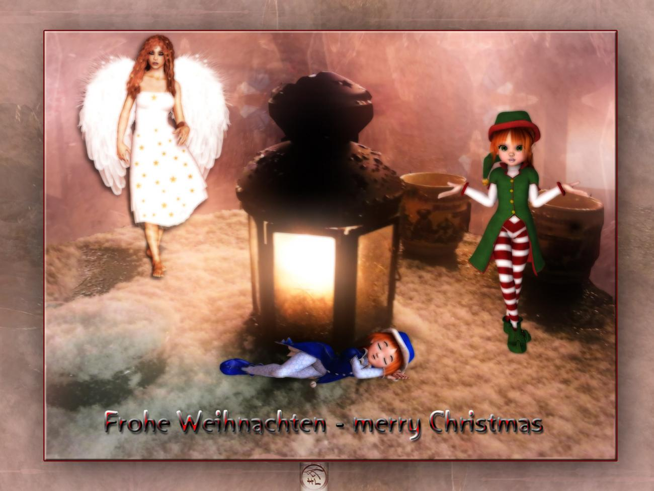 frohe Weihnachten - merry christmas for all