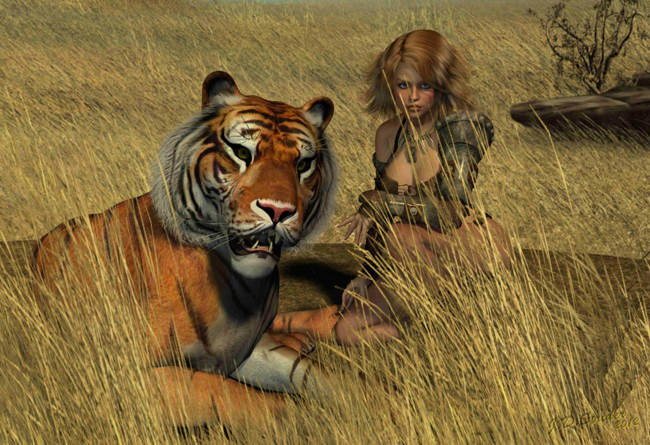 A girl and her pussycat Take II by jdstrider