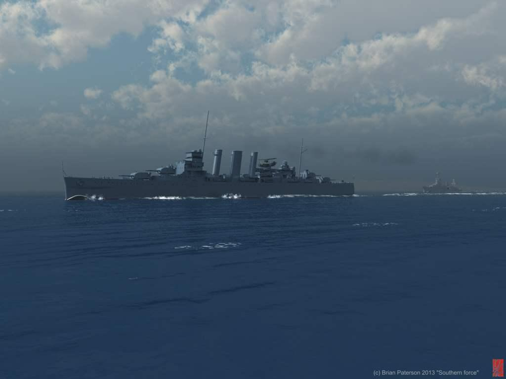 Southern force/ HMAS Canberra WIP by Briney