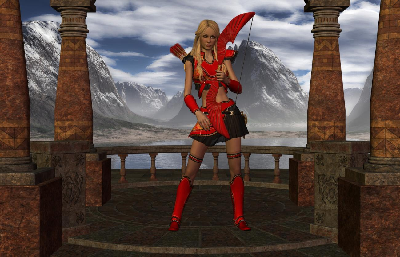 Warrior Princess in Red