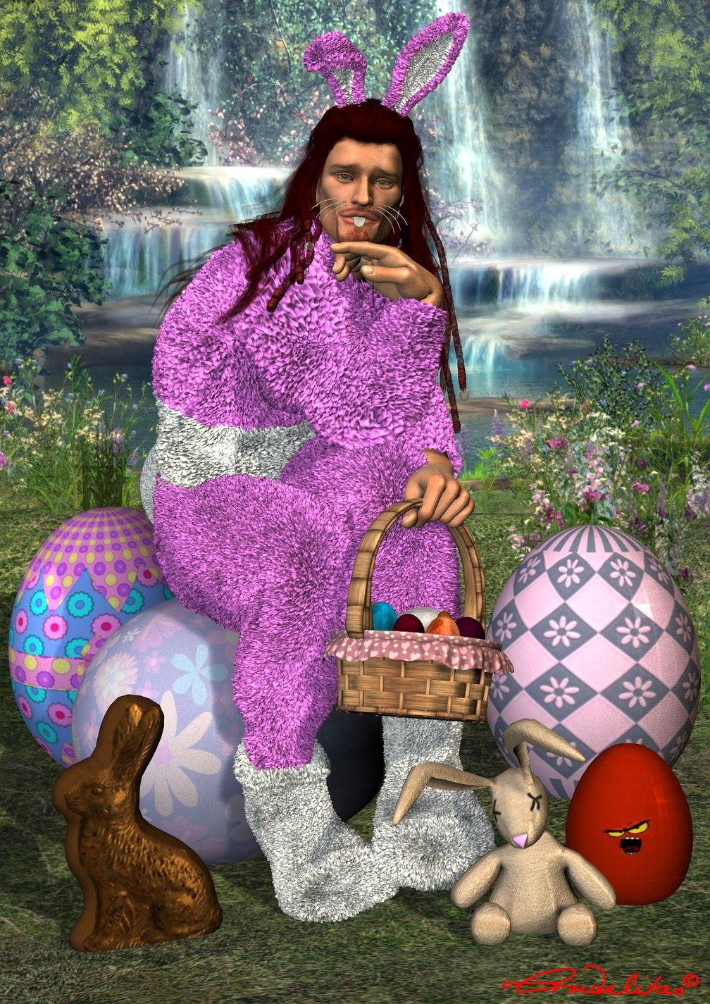 Happy Easter for my friends by Crudelitas