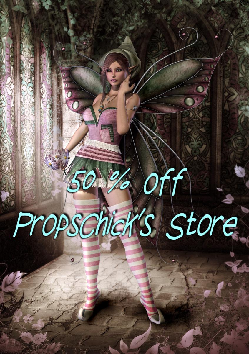 50% off ends tonight! by Propschick