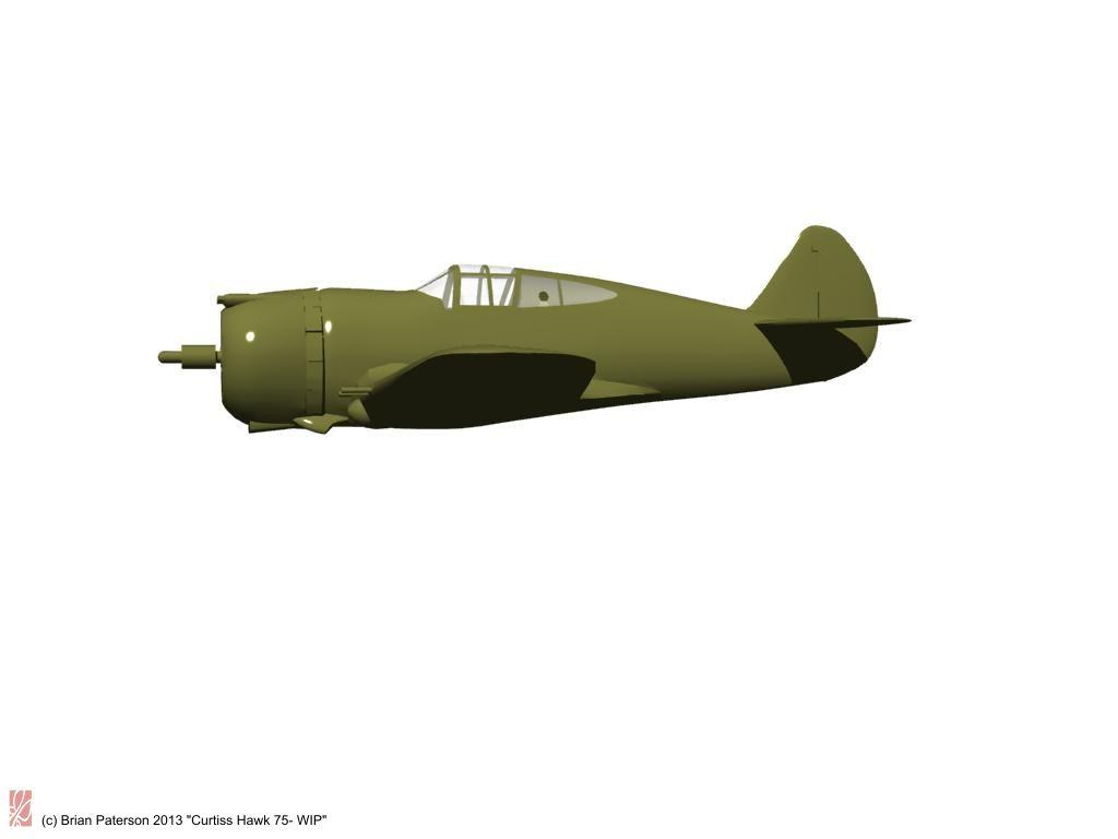 Curtiss Hawk P36 by Briney