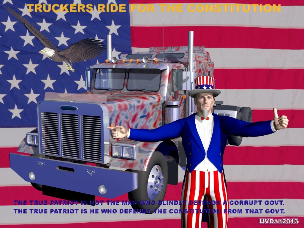 Truckers Ride for the Constitution by UVDan