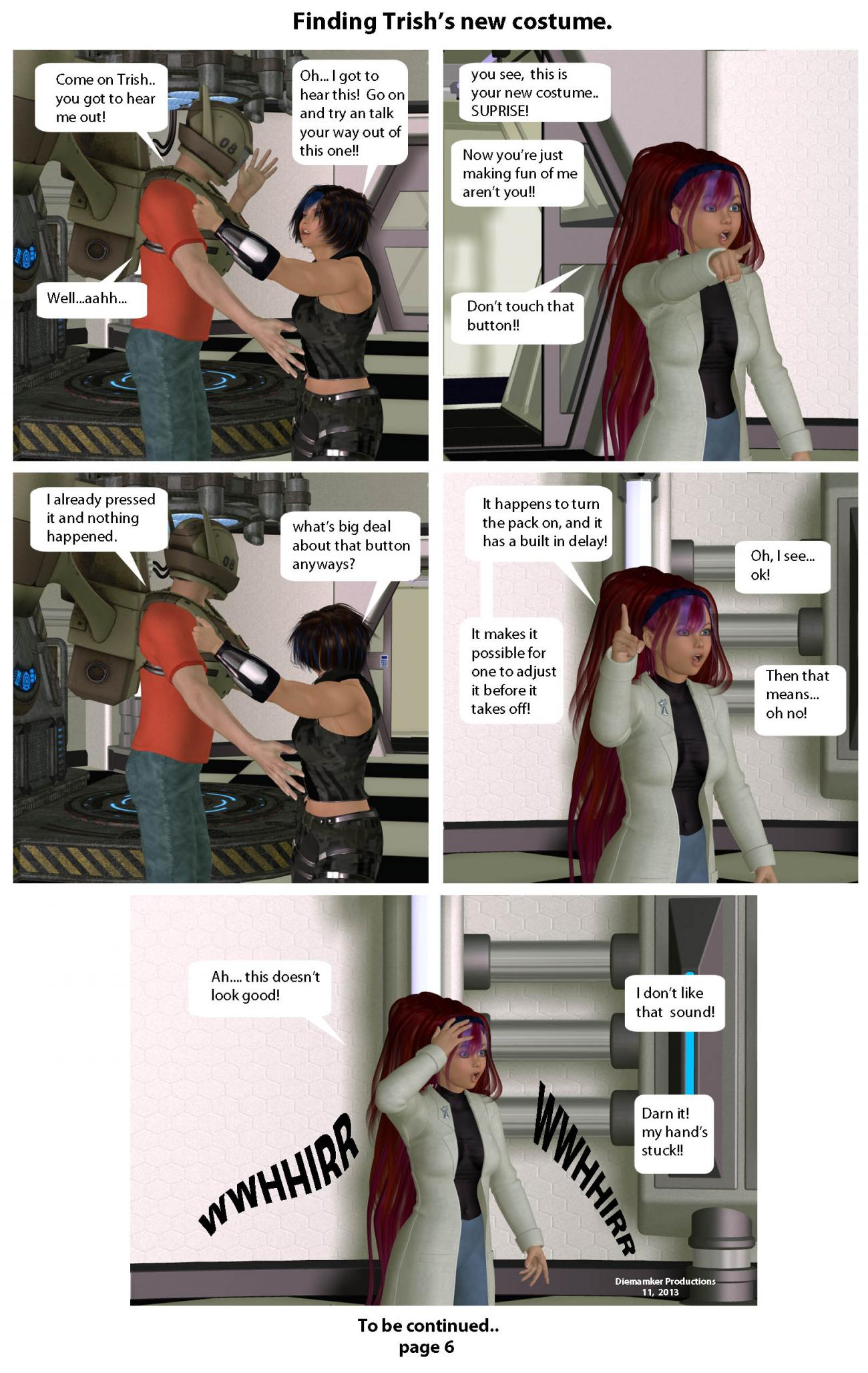 Finding Trish's new costume  page 6