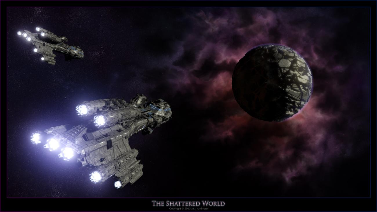 The Shattered World by theSea