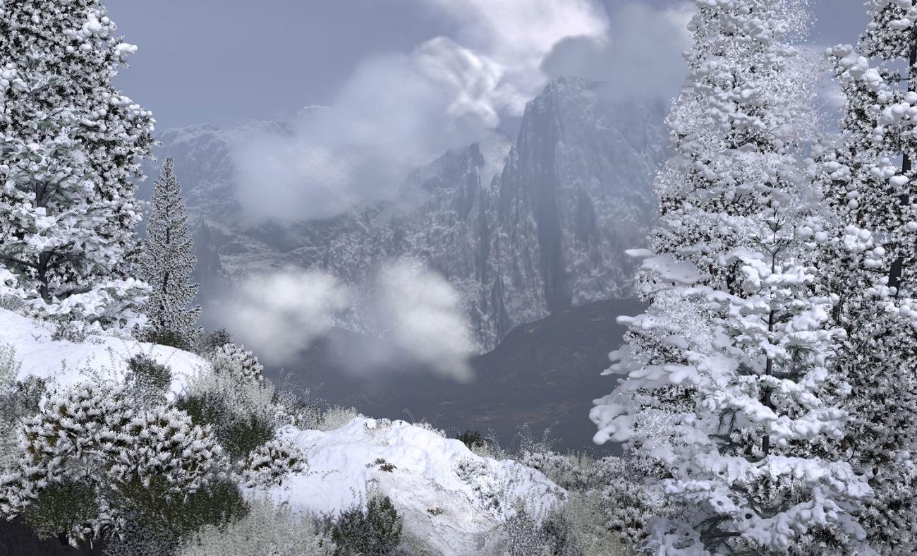 Snow in the Alps by Eremes