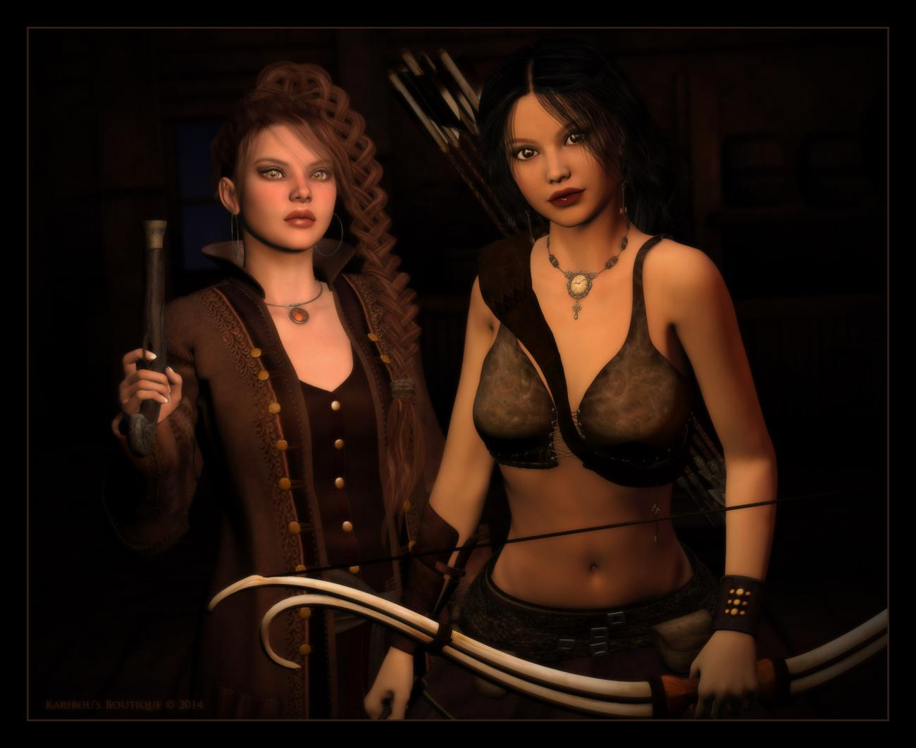 The Pirate and The Pagan by karibousboutique