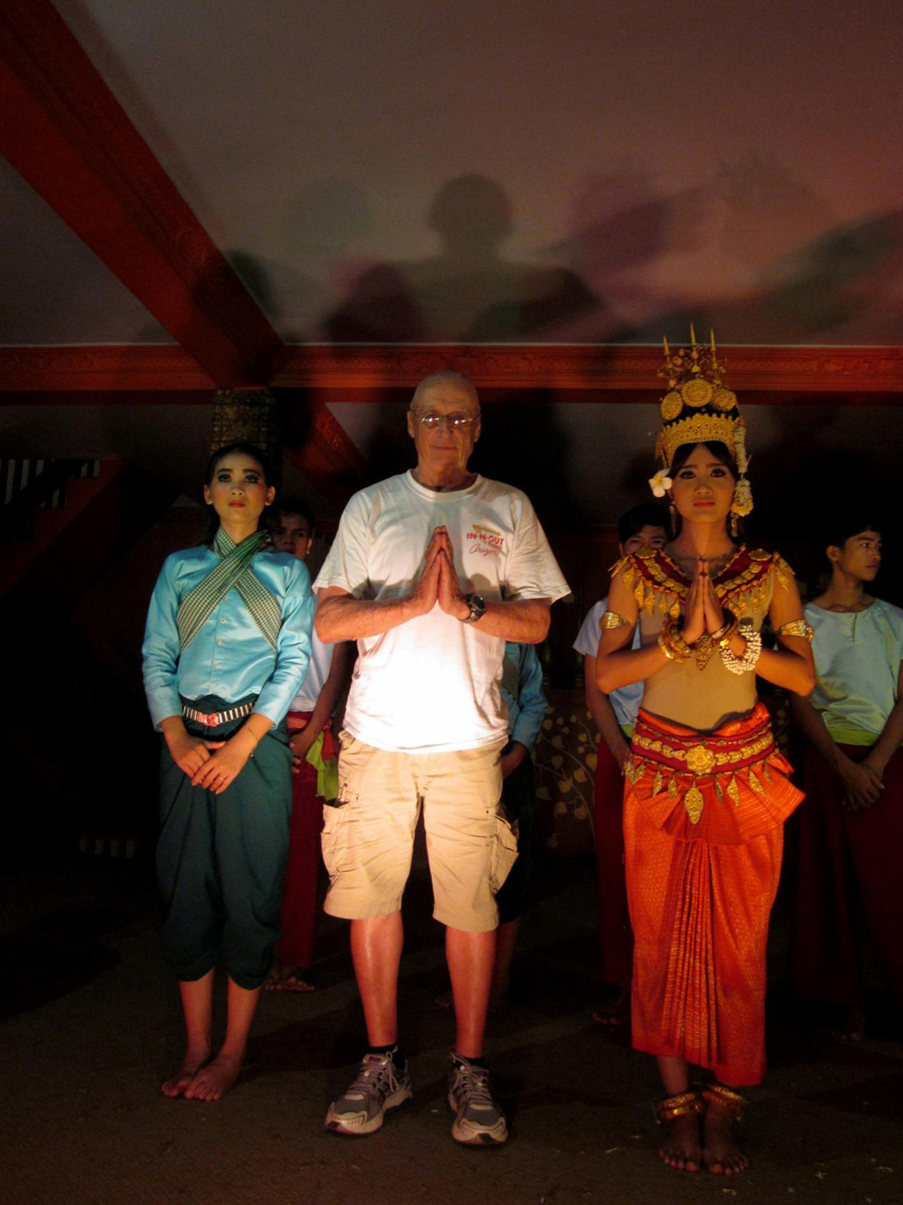 Posing with the Temple Dancers