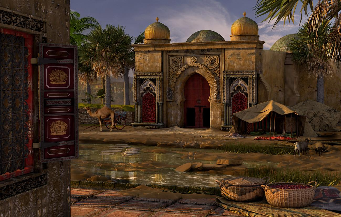 Moroccan Scene by Eremes
