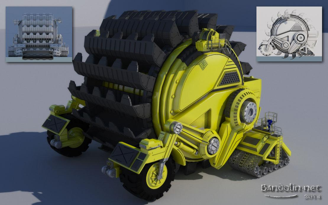 Planetary surface excavator by bandolin
