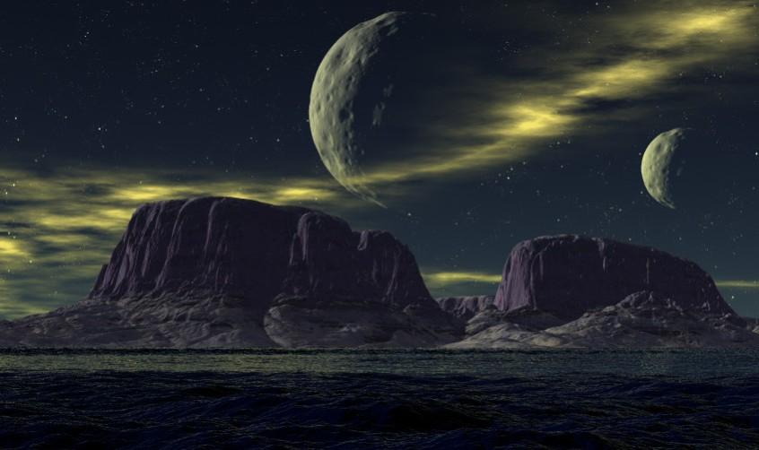 Twin Moons of Nathina by 3DMISFIT