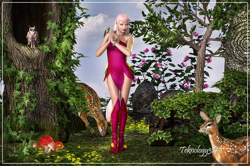 Forest Lady by teknology3d