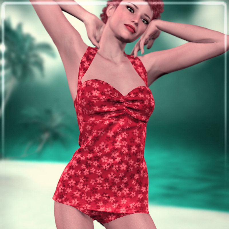 Dynamic 50s Swimsuit by Frequency by Frequency3D