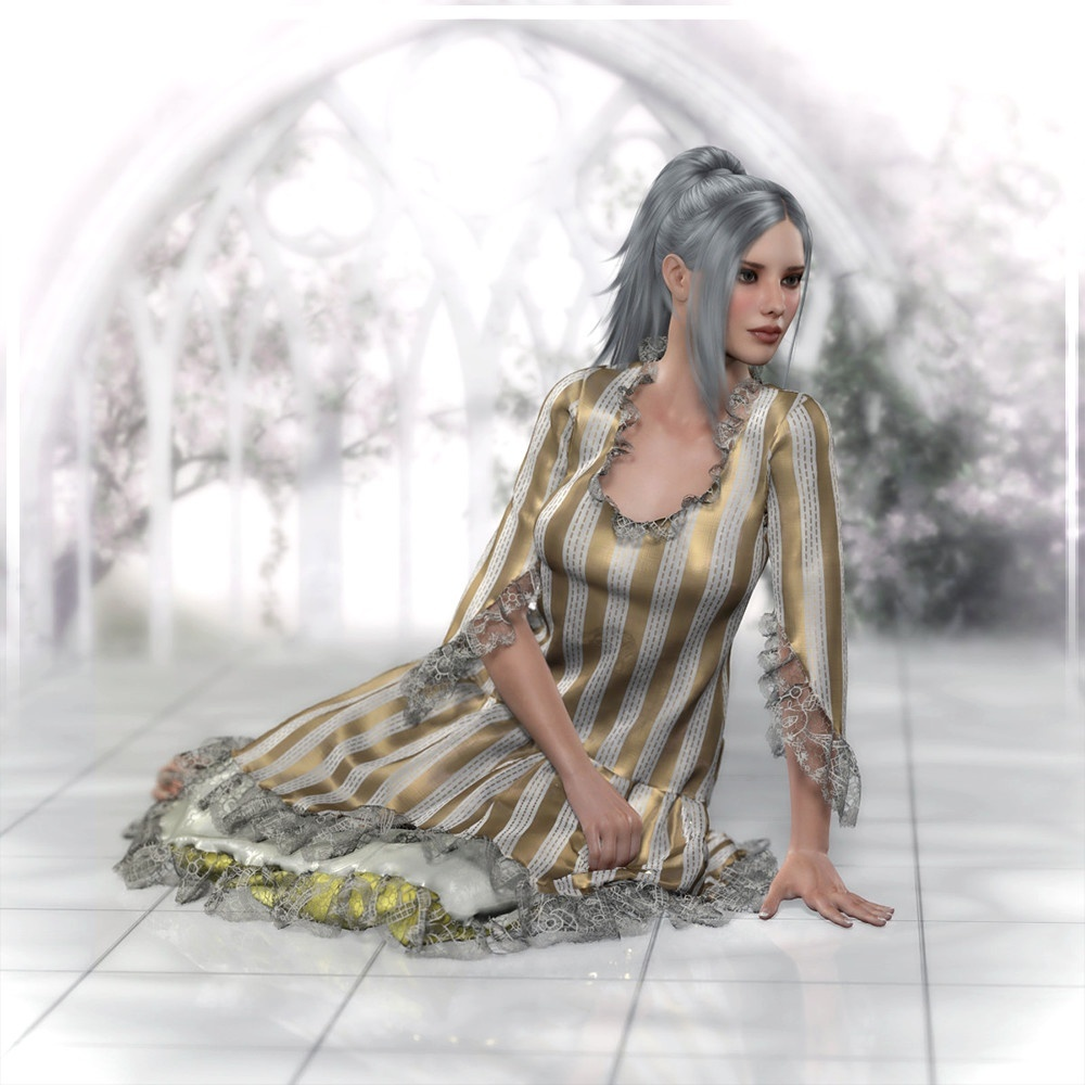 Vintage Layered Dress Dynamic Promo Artwork by Frequency3D