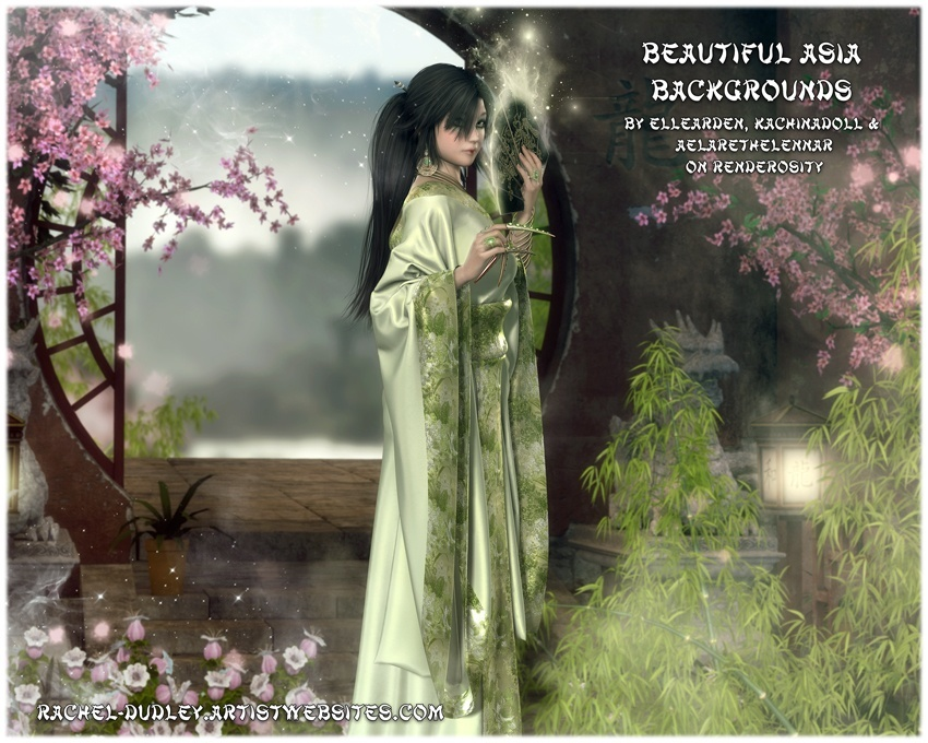 Beautiful Asia Backgrounds - In Store Now! by Rainaverse