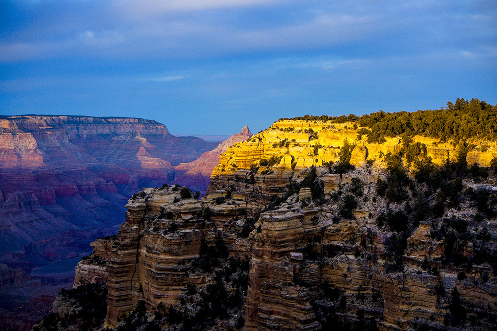Setting Sun on the Rim by EJD64