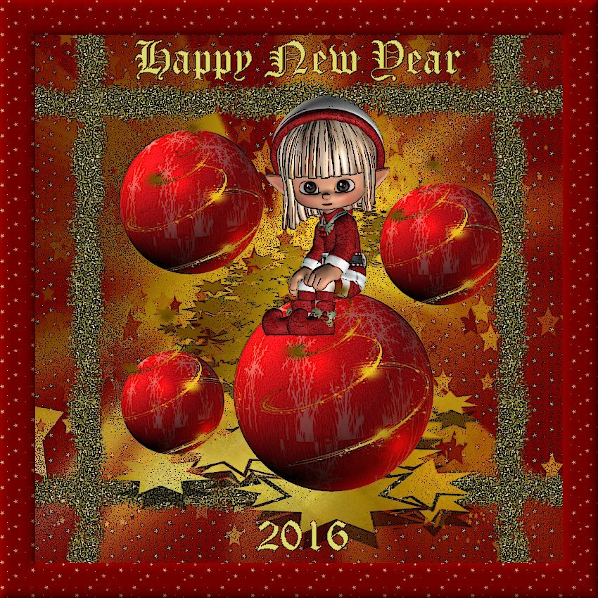 Happy New Year to all my friends by toyyaris