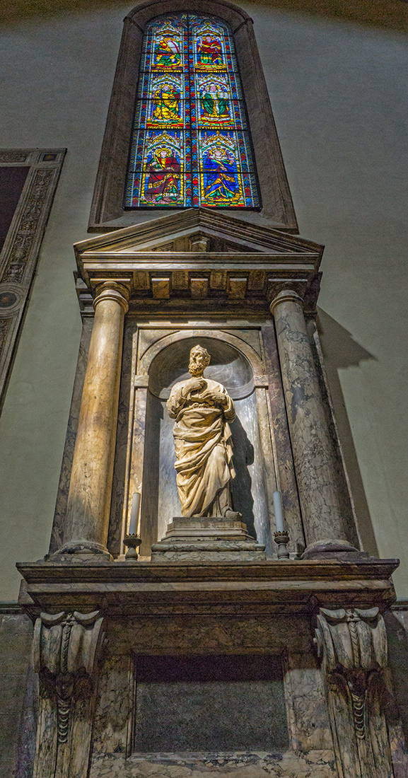Statue inside the Cathedral of Santa Maria del Flo by EJD64