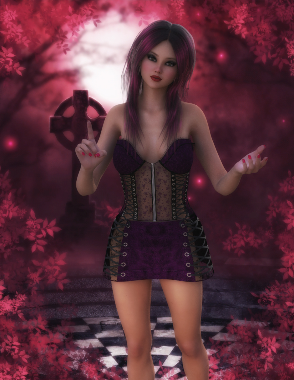 Pink Gothic Forest by starfire777