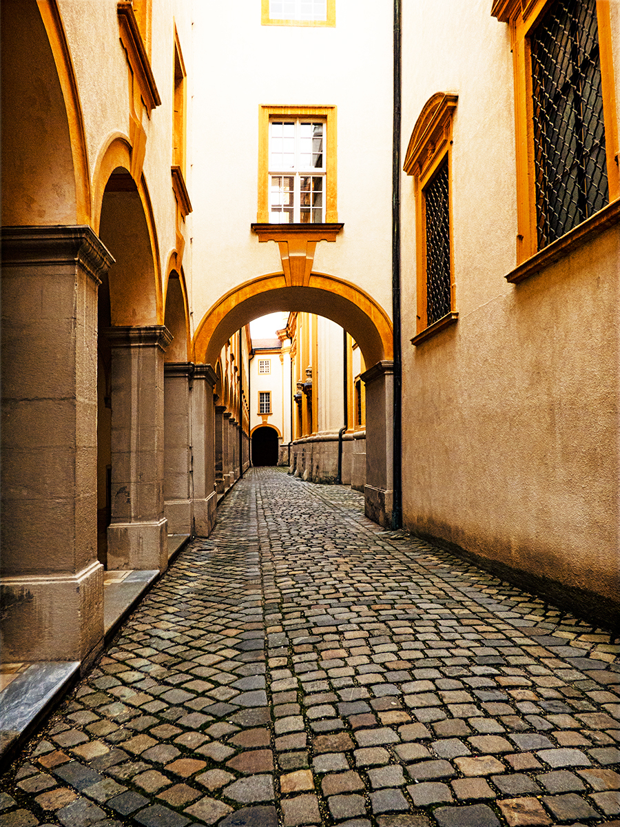 Melk Abbey - Inner Passageway by photosynthesis