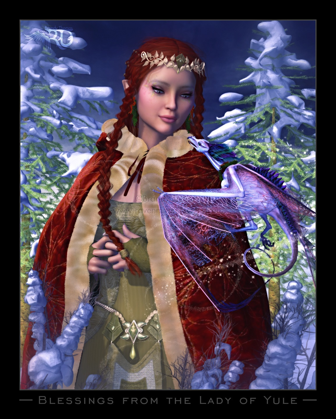 Blessings from the Lady of Yule by RavynGyrl