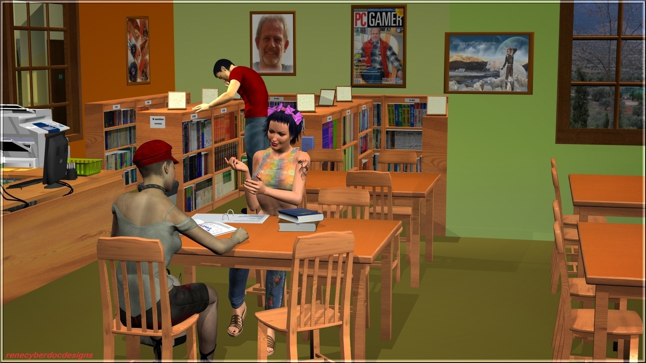 A day at the City Library by renecyberdoc