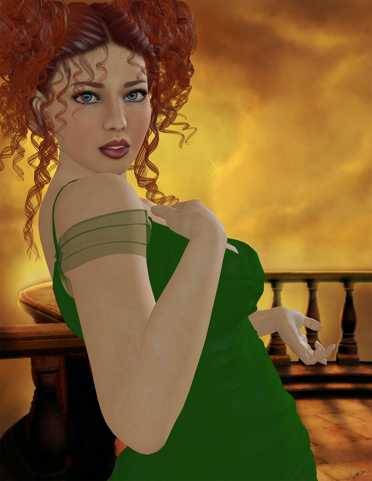 Girl In The Green Dress by visualgirl