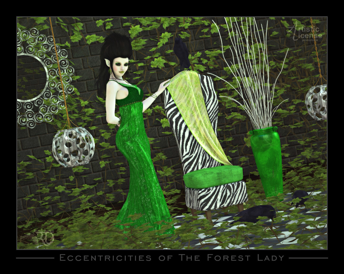 Eccentricities of The Forest Lady (Alexaana) by RavynGyrl