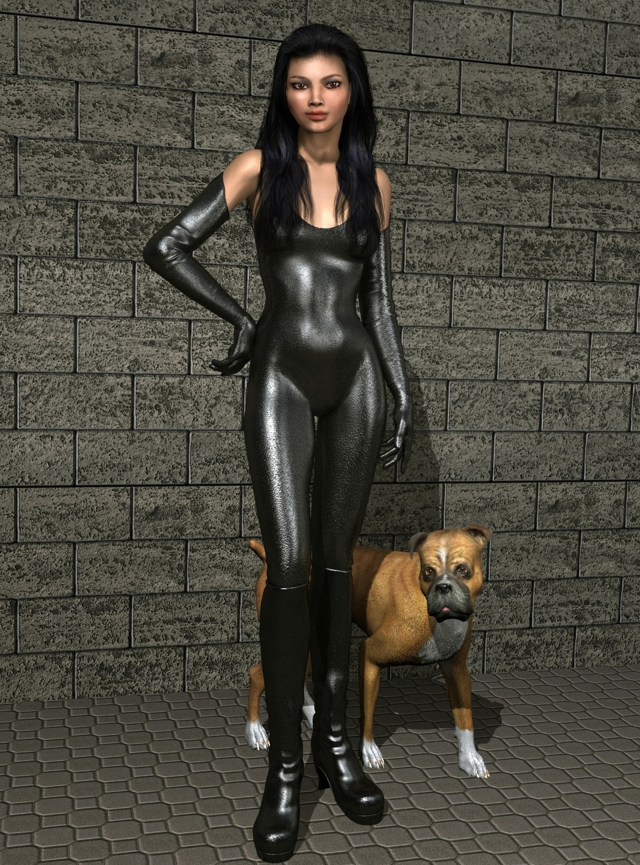 Lady and Dog by Simone83