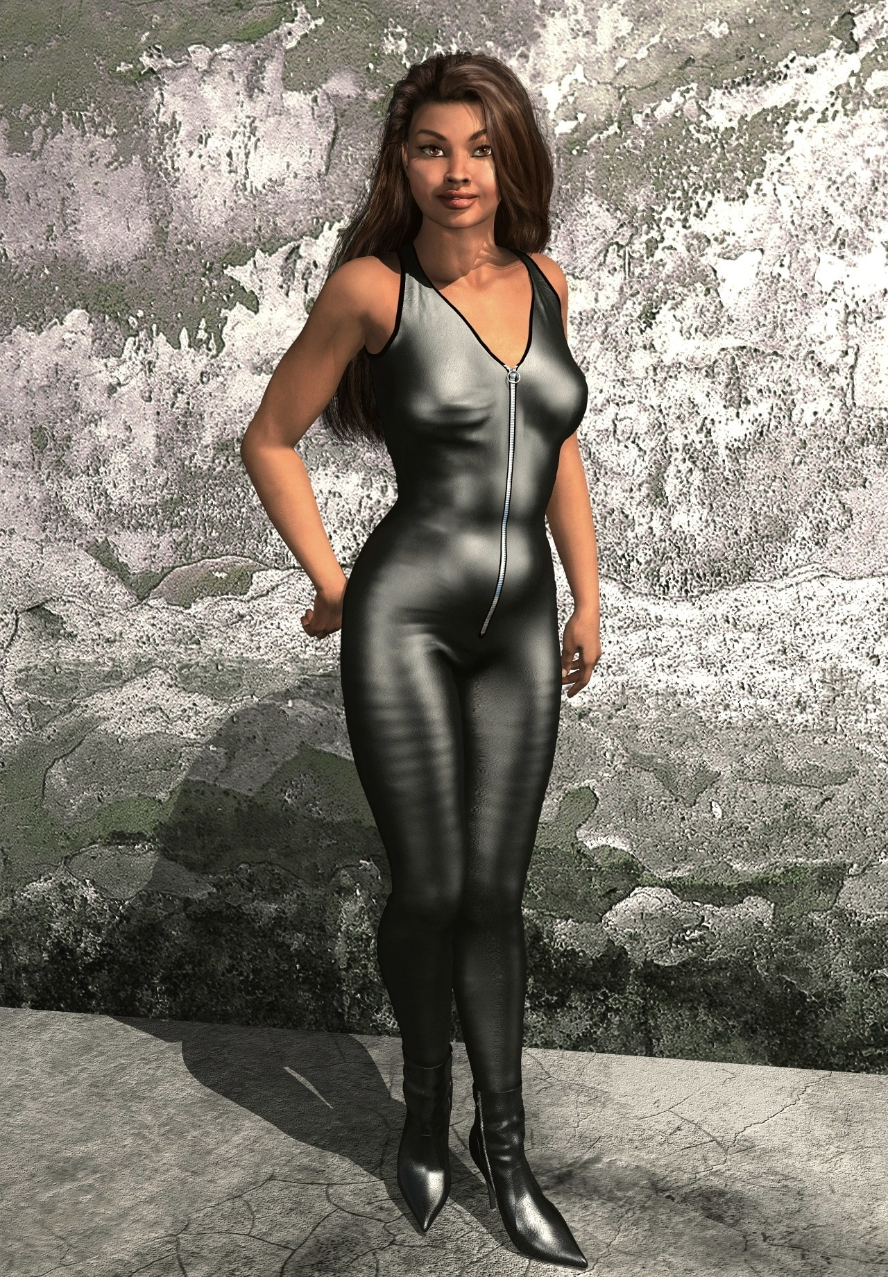 Leather Jumpsuit by Simone83