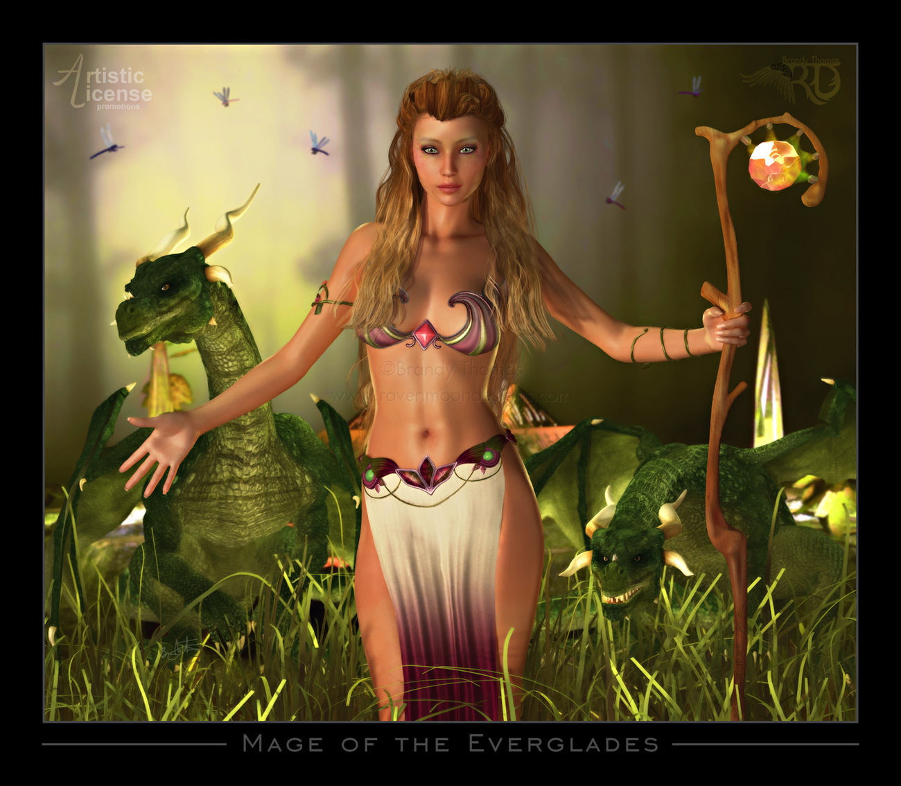 Mage of the Everglades (Silver) by RavynGyrl