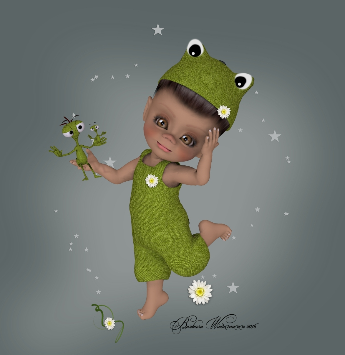 Kit Froggie and Torf by Barbara1337