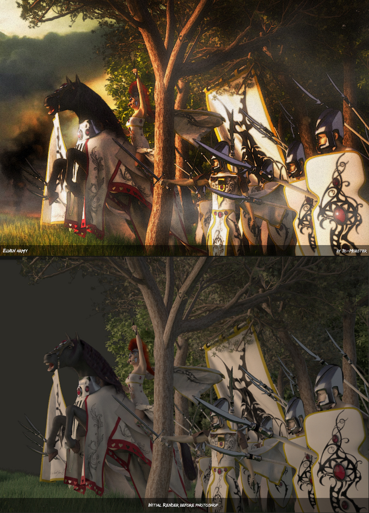 Elven army by 3D-Mobster