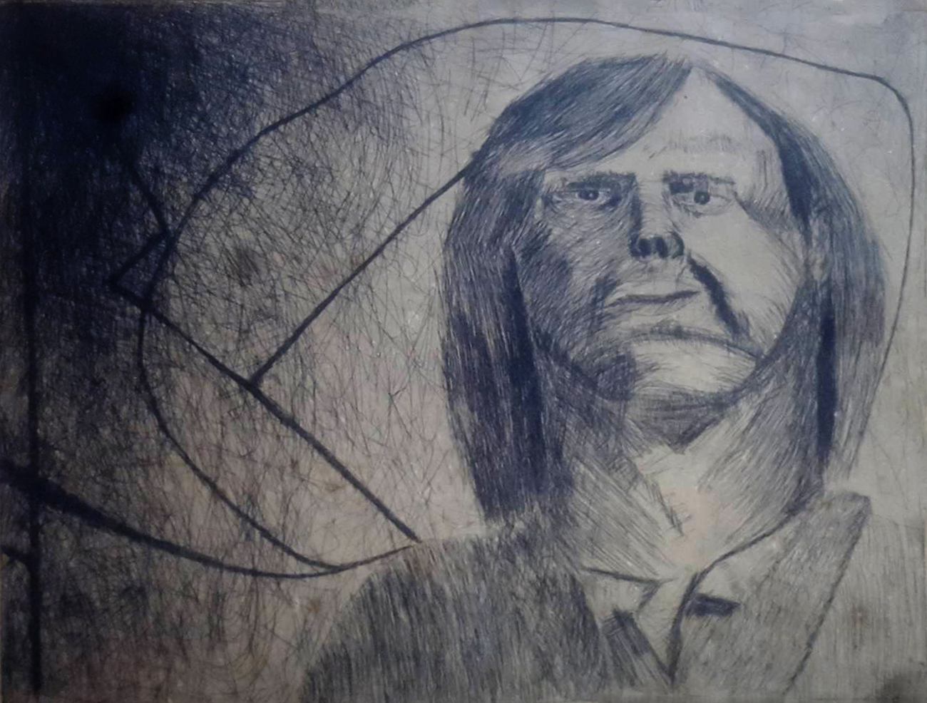 etching of self around 1973 by jocko500