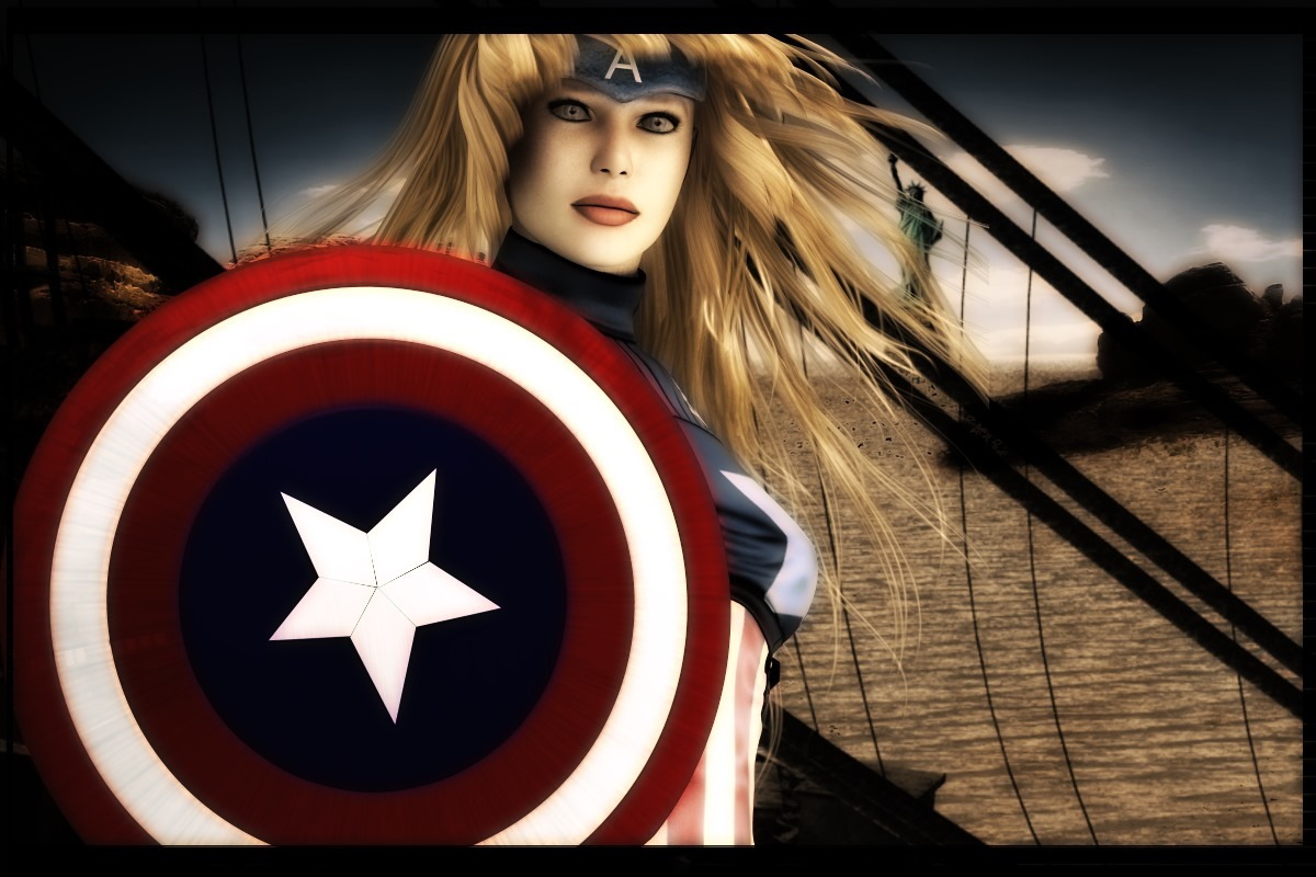 Portrait of Captain America (female) by DiYanira