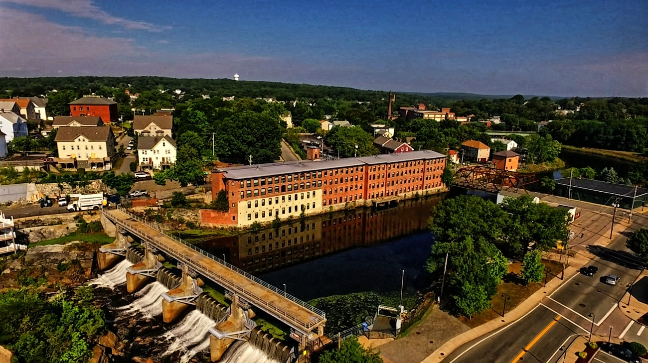 Eye of the Drone 03 - Woonsocket Dam by Ragtopjohnny