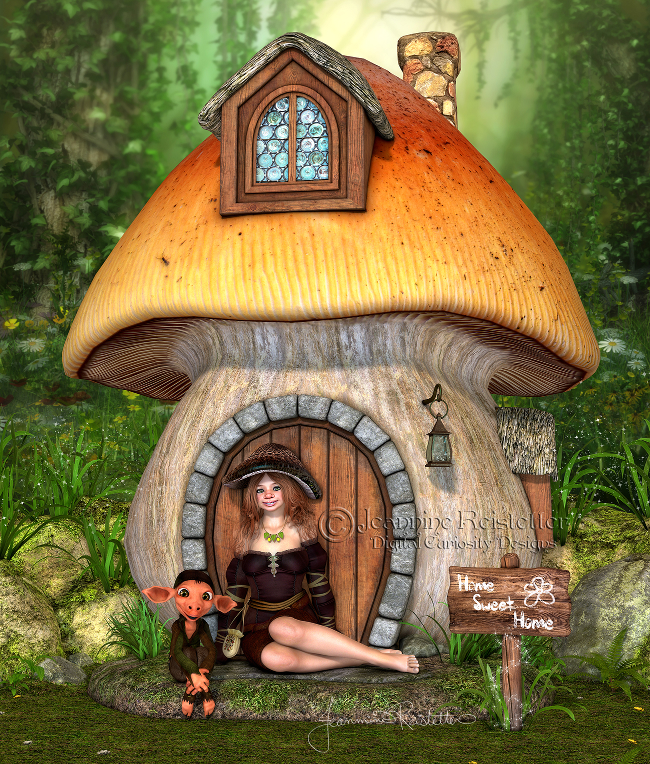 Gnome place like Home by Cupcake