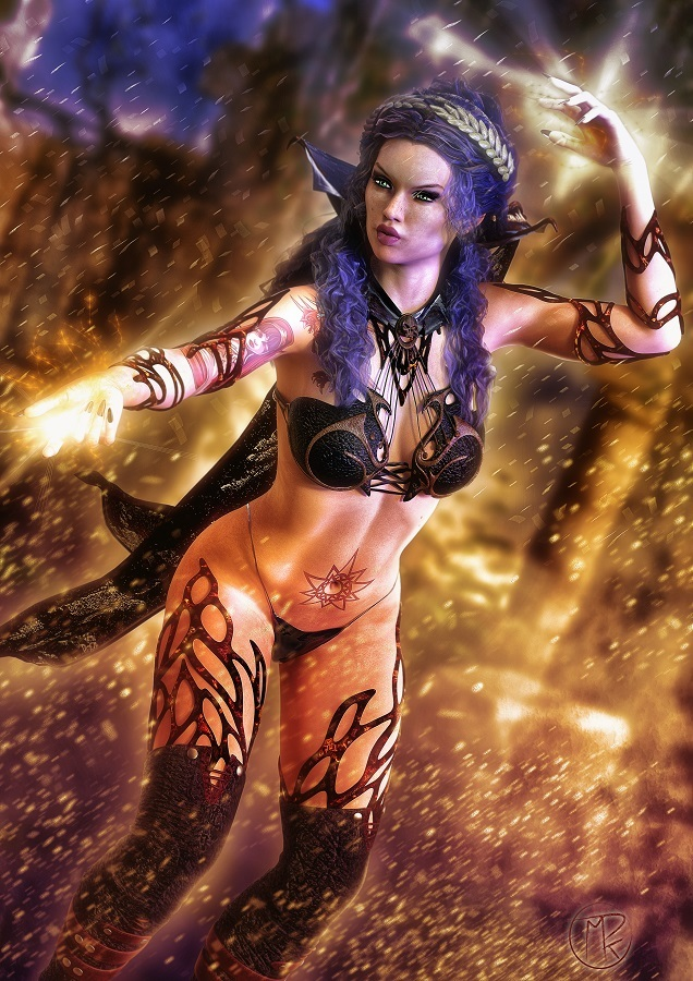 Fire Witch by MarcosDk