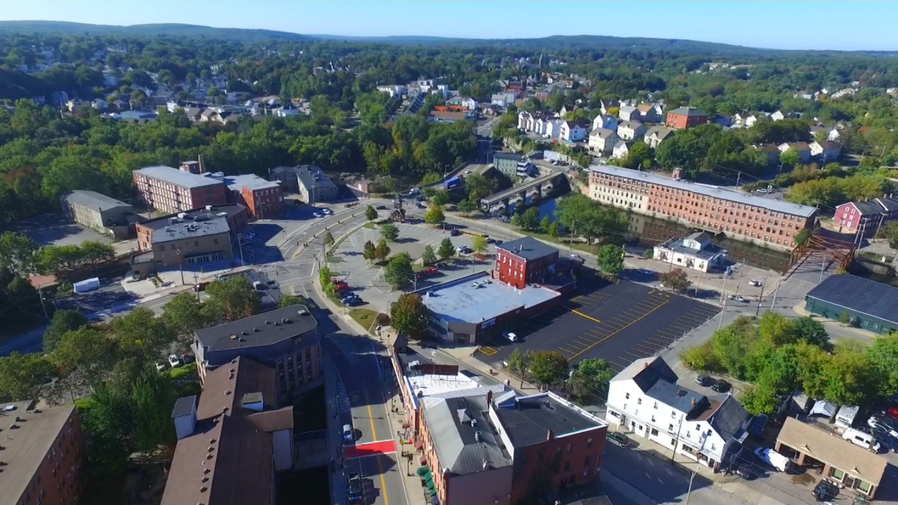 Eye of the Drone - South Main Street, Woonsocket R by Ragtopjohnny