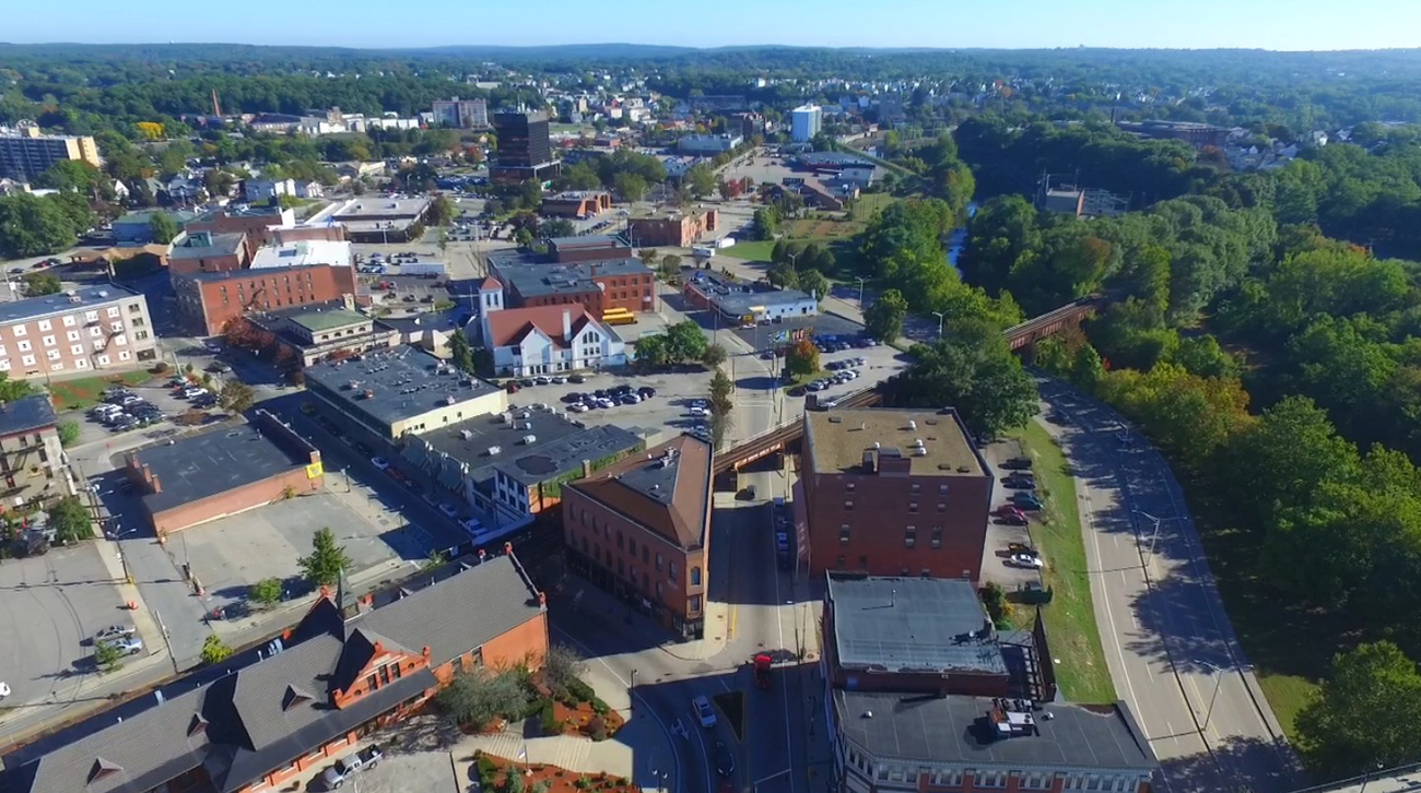 Eye Of the Drone - Depot Square and Marquette Buil by Ragtopjohnny